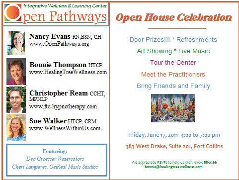 Open House announcement